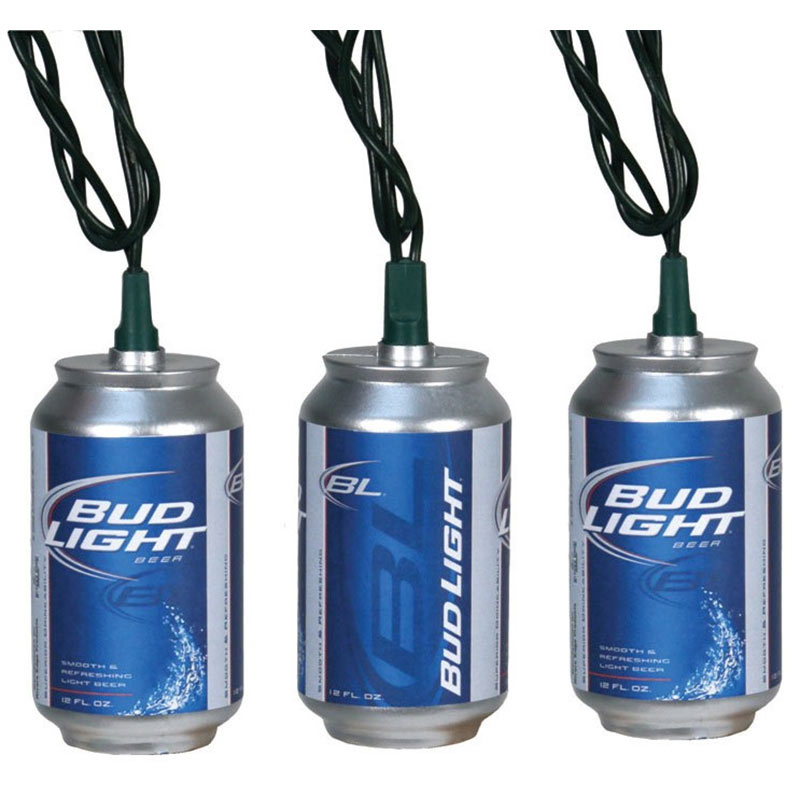 Bud Light Beer Can String Lights Set