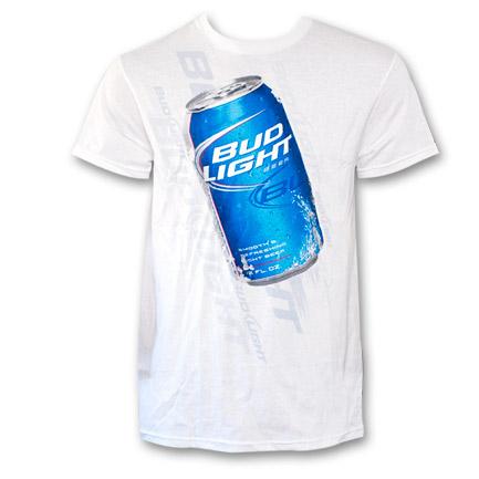 Bud Light Big BL Can Shirt - White