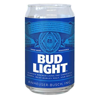Bud Light Imitation Can Drinking Glass
