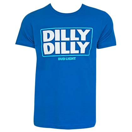 Bud Light Dilly Dilly Logo Blue Tshirt