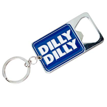 Bud Light Dilly Dilly Metal Bottle Opener Keychain