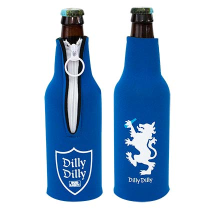 Bud Light Blue Dilly Dilly Bottle Insulator