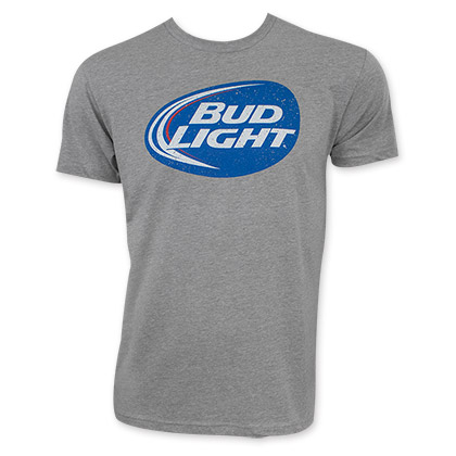 Bud Light Distressed Beer Logo T-Shirt