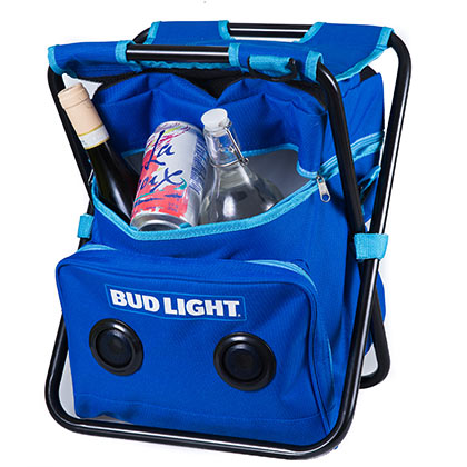 Bud Light Folding Chair Cooler Speaker Combo