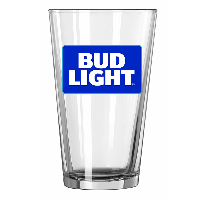 Bud Light Beer Pint Glass