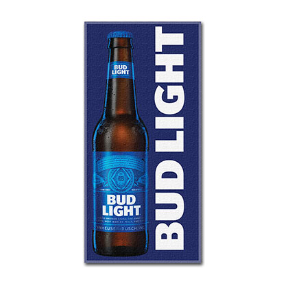 Bud Light Bottle Beach Towel
