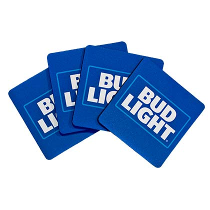 Bud Light Neoprene Coasters