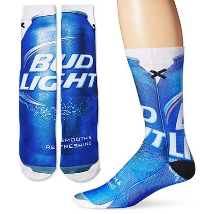 Men's Cotton Bud Light Beer Socks