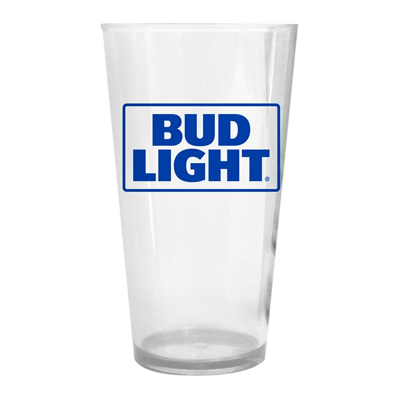 Bud Light Plastic Beer Logo Pint Glass