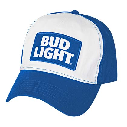 Bud Light Adjustable Blue & White Hat
