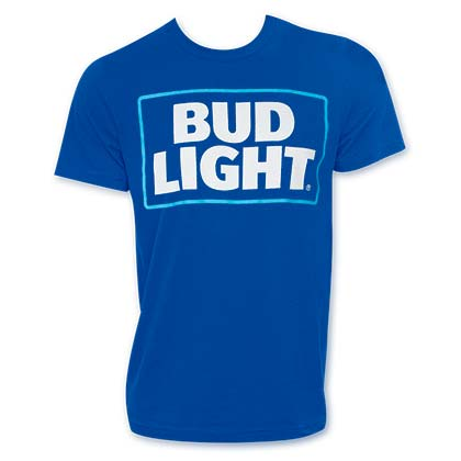 Bud Light Logo Royal Blue Tshirt