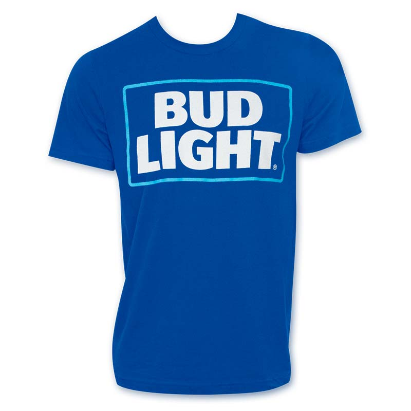 Bud Light New Logo Royal Blue Tshirt