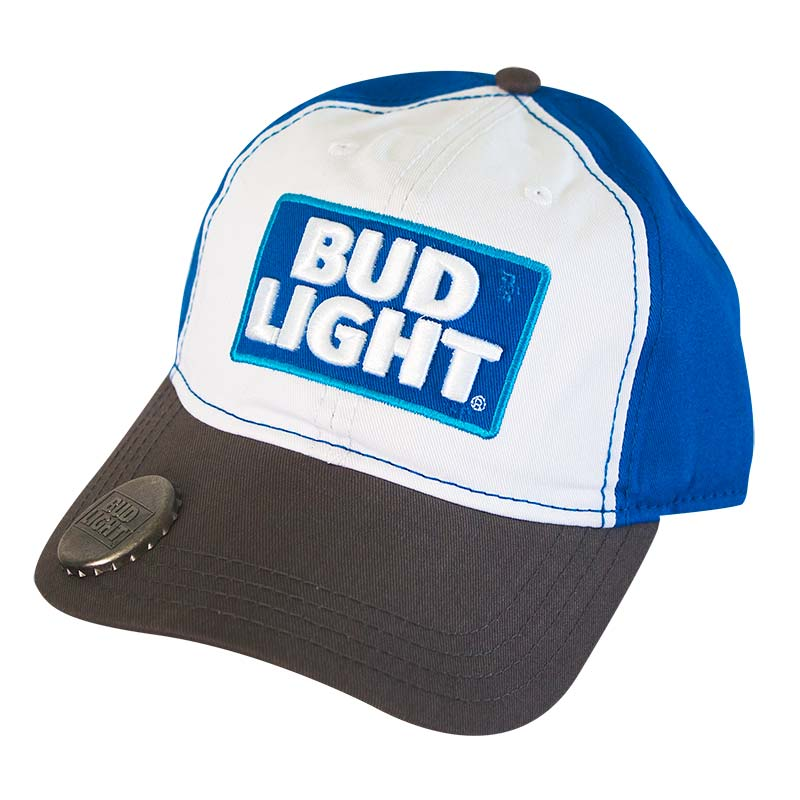 Bud Light Logo Bottle Opener Hat