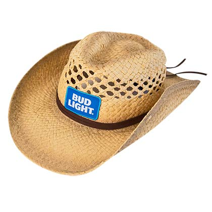 Bud Light Logo Straw Cowboy Hat
