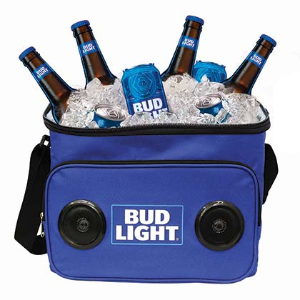 Bud Light 24 Can Bluetooth Speaker Cooler Bag
