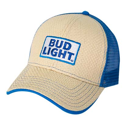 Bud Light Straw Baseball Hat