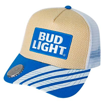 Bud Light Straw Bottle Opener Hat