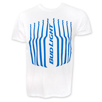 Bud Light Vertical Stripes Logo T-Shirt