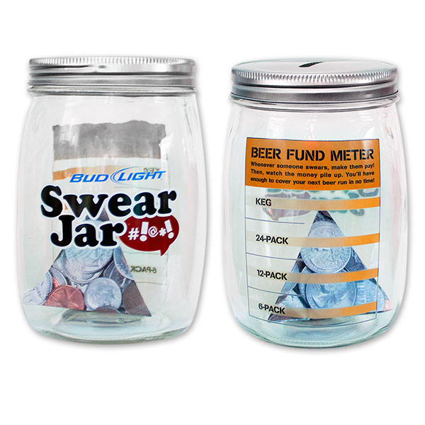 Superior Bud Light Glass Piggy Bank   Swear Jar