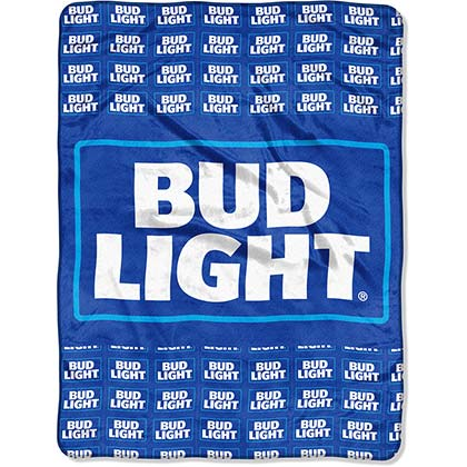 Bud Light Plush Throw Blanket
