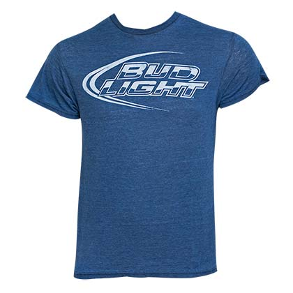 Men's Bud Light Blue Tee Shirt