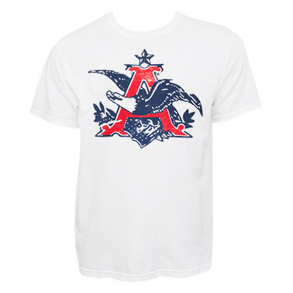Budweiser Men's White Anheuser T-Shirt