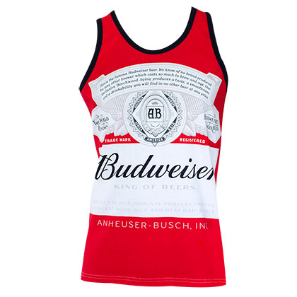 Budweiser Bottle Logo Red Tank Top