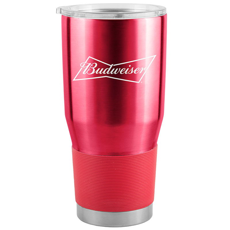 Budweiser Red 30 Oz Metal Tumbler Cup