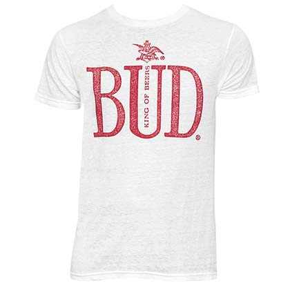 Men's Budweiser King Of Beers White Tee Shirt