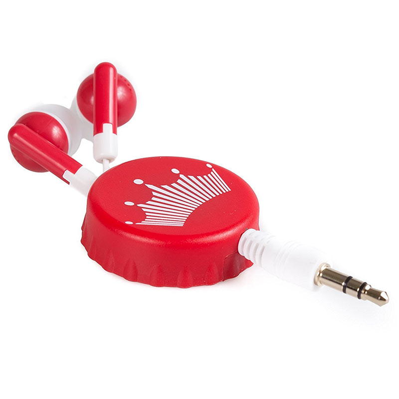 Budweiser Retractable Bottle Cap Ear Buds