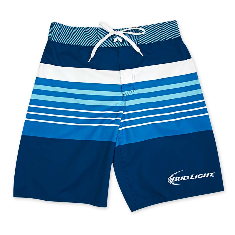 Bud Light White Stripe Board Shorts
