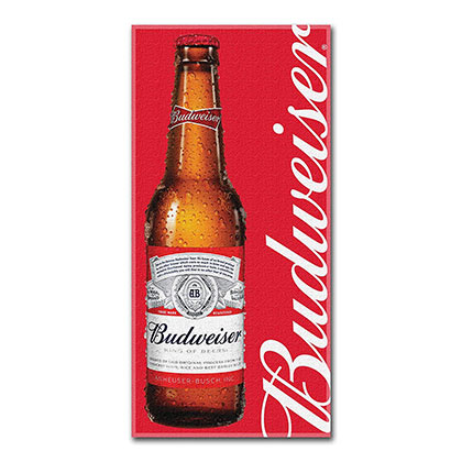 Budweiser Red Fleece Bottle Blanket