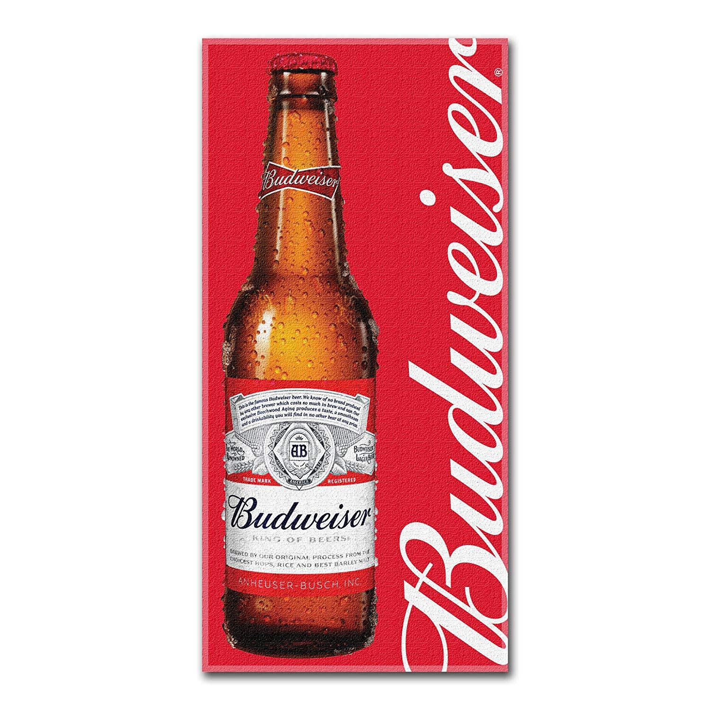 Budweiser Bottle Red Fleece Towel