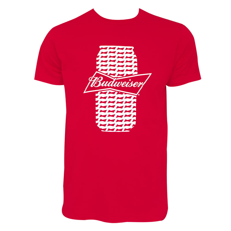 Budweiser Men's Red Beer Can T-Shirt