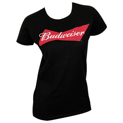 Budweiser Beer Logo Black Women's T-Shirt