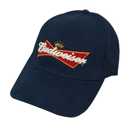 Budweiser Curved Bill Navy Blue Flex Fit Hat