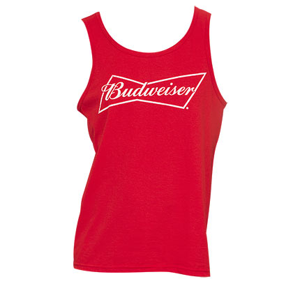 Men's Budweiser Beer Red Tank Top