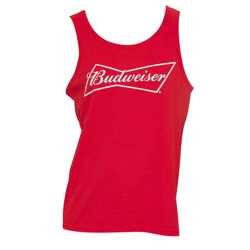 Men's Budweiser Red Tank Top