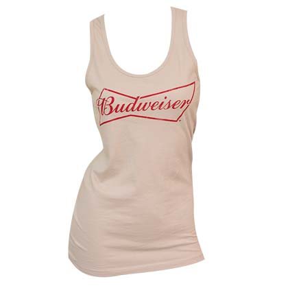 Women's Budweiser Beer Beige Tank Top