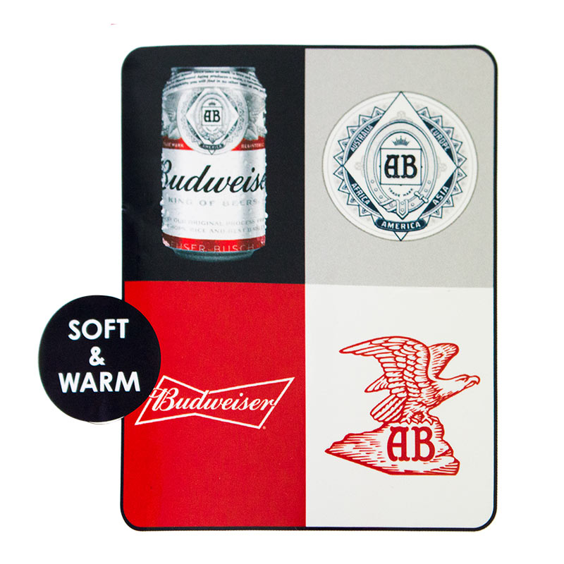 Budweiser Square Design Beach Blanket