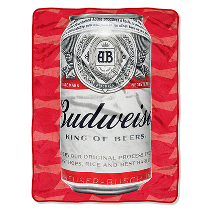 Budweiser Cold Can 40x60 Plush Fleece Throw Blanket