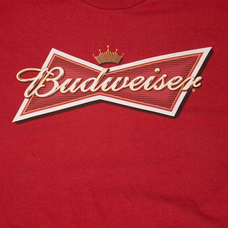 Budweiser Red Men's Classic Bow Tie Logo Tee Shirt