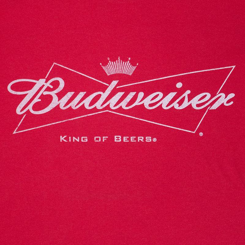 Budweiser White Logo Men\'s Red Tee Shirt