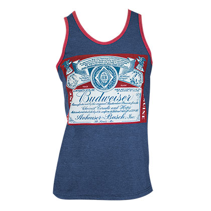 Budweiser Men's Navy Blue Label Tank Top