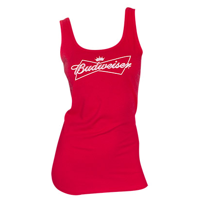Budweiser Women's Fitted Red Tank Top