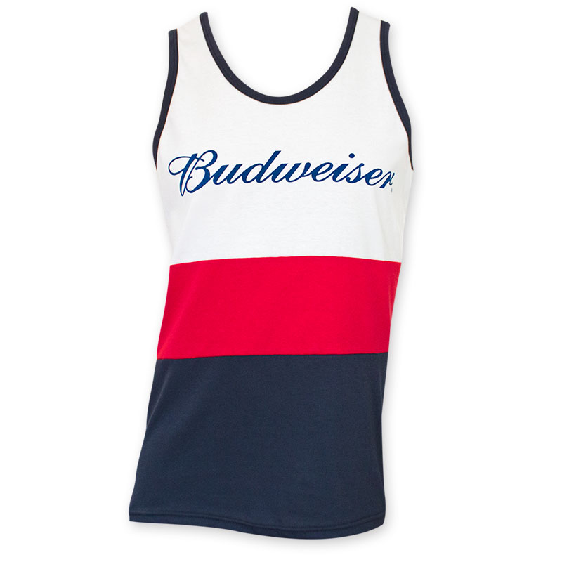 5a3ec61fe28ef9 Budweiser Red White And Blue Tank Top