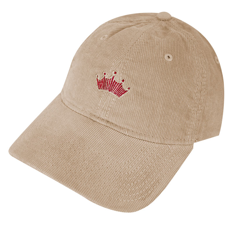 Budweiser Beige Corduroy Washed Dad Hat