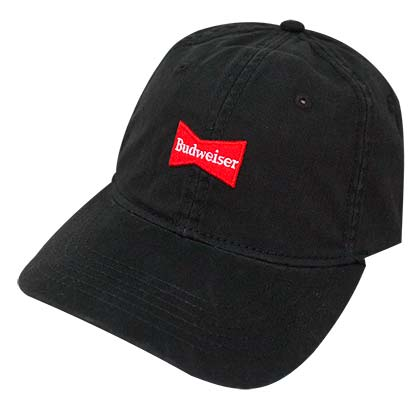 Budweiser Washed Black Dad Hat
