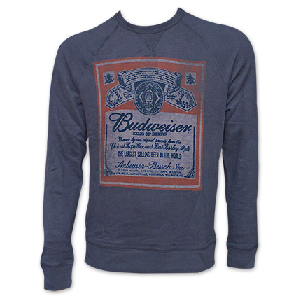 Budweiser Beer Label Sweatshirt