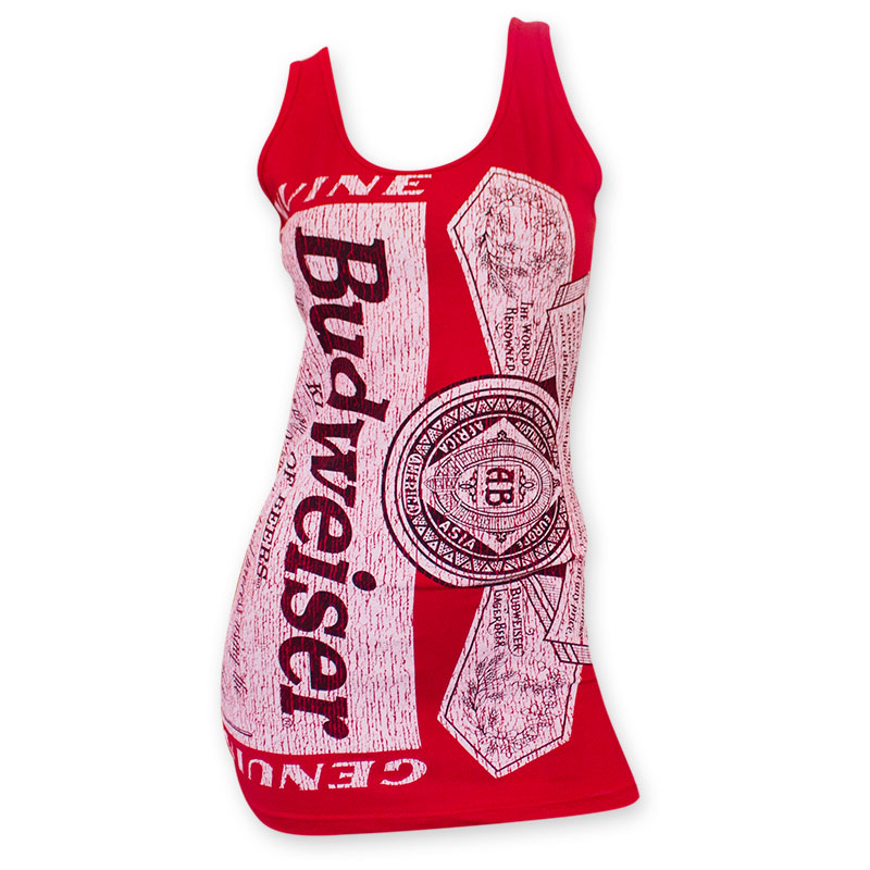 Budweiser Red Distressed Label Women's Tank Top
